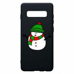 Чехол для Samsung S10+ Снеговик