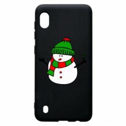 Чехол для Samsung A10 Снеговик