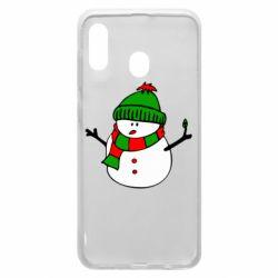 Чехол для Samsung A30 Снеговик