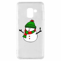 Чехол для Samsung A8 2018 Снеговик