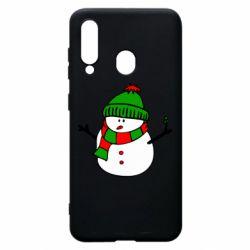 Чехол для Samsung A60 Снеговик