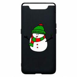 Чехол для Samsung A80 Снеговик