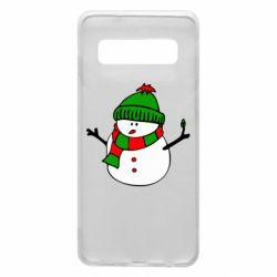 Чехол для Samsung S10 Снеговик