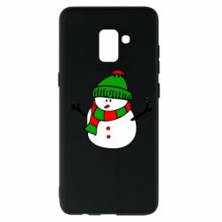 Чехол для Samsung A8+ 2018 Снеговик