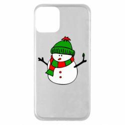 Чехол для iPhone 11 Снеговик