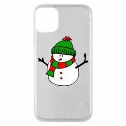 Чехол для iPhone 11 Pro Снеговик