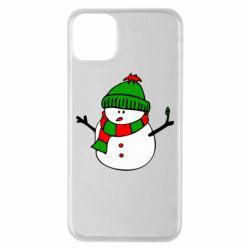 Чехол для iPhone 11 Pro Max Снеговик