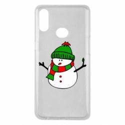 Чехол для Samsung A10s Снеговик