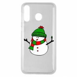 Чехол для Samsung M30 Снеговик