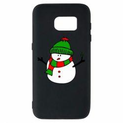Чехол для Samsung S7 Снеговик