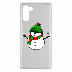 Чехол для Samsung Note 10 Снеговик