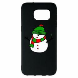 Чехол для Samsung S7 EDGE Снеговик