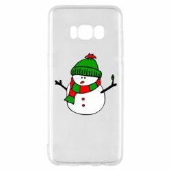 Чехол для Samsung S8 Снеговик