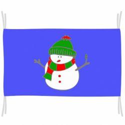 Флаг Снеговик