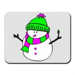 Коврик для мыши Снеговик