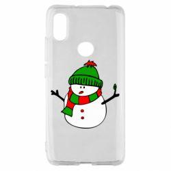 Чехол для Xiaomi Redmi S2 Снеговик