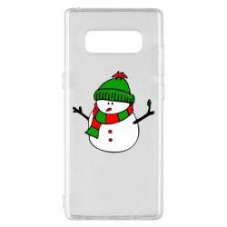 Чехол для Samsung Note 8 Снеговик