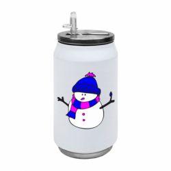 Термобанка 350ml Снеговик