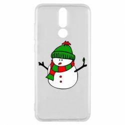 Чехол для Huawei Mate 10 Lite Снеговик - FatLine