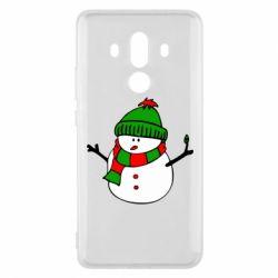 Чехол для Huawei Mate 10 Pro Снеговик - FatLine