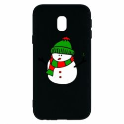 Чехол для Samsung J3 2017 Снеговик