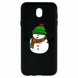 Чехол для Samsung J7 2017 Снеговик