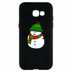 Чехол для Samsung A5 2017 Снеговик