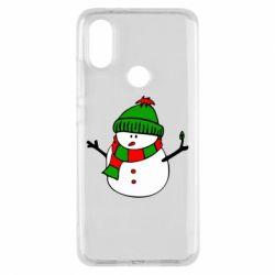 Чехол для Xiaomi Mi A2 Снеговик