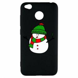Чехол для Xiaomi Redmi 4x Снеговик