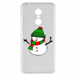 Чехол для Xiaomi Redmi 5 Снеговик - FatLine