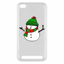 Чехол для Xiaomi Redmi 5a Снеговик - FatLine
