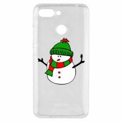 Чехол для Xiaomi Redmi 6 Снеговик - FatLine