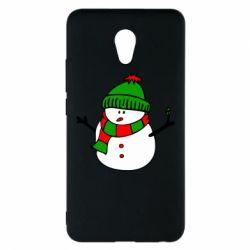 Чехол для Meizu M5 Note Снеговик - FatLine