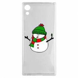 Чехол для Sony Xperia XA1 Снеговик - FatLine