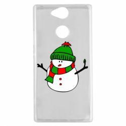Чехол для Sony Xperia XA2 Снеговик - FatLine