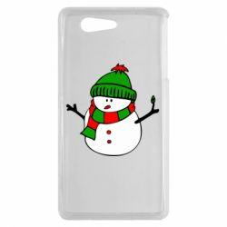 Чехол для Sony Xperia Z3 mini Снеговик - FatLine