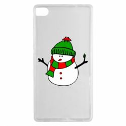 Чехол для Huawei P8 Снеговик - FatLine
