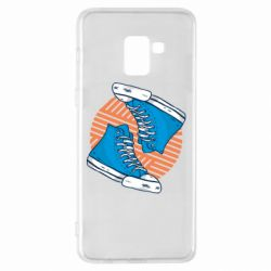 Чехол для Samsung A8+ 2018 Snickers shoes