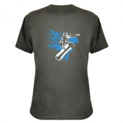 Камуфляжная футболка Сноуборд - FatLine