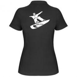Жіноча футболка поло Snow Board