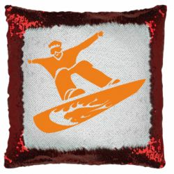 Подушка-хамелеон Snow Board