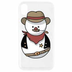 Чехол для iPhone XR Snowman Cowboy
