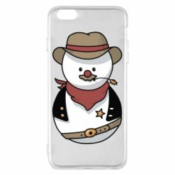Чехол для iPhone 6 Plus/6S Plus Snowman Cowboy