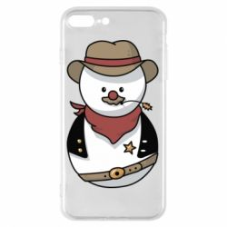 Чехол для iPhone 7 Plus Snowman Cowboy