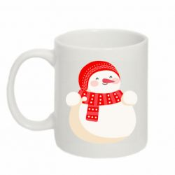 Кружка 320ml Snowman in red hat