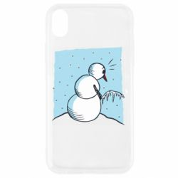 Чехол для iPhone XR Snowman Peeing