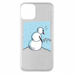 Чехол для iPhone 11 Snowman Peeing