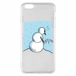 Чехол для iPhone 6 Plus/6S Plus Snowman Peeing