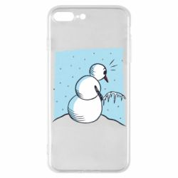Чехол для iPhone 7 Plus Snowman Peeing
