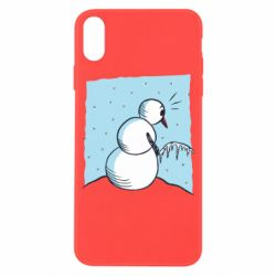 Чехол для iPhone X/Xs Snowman Peeing
